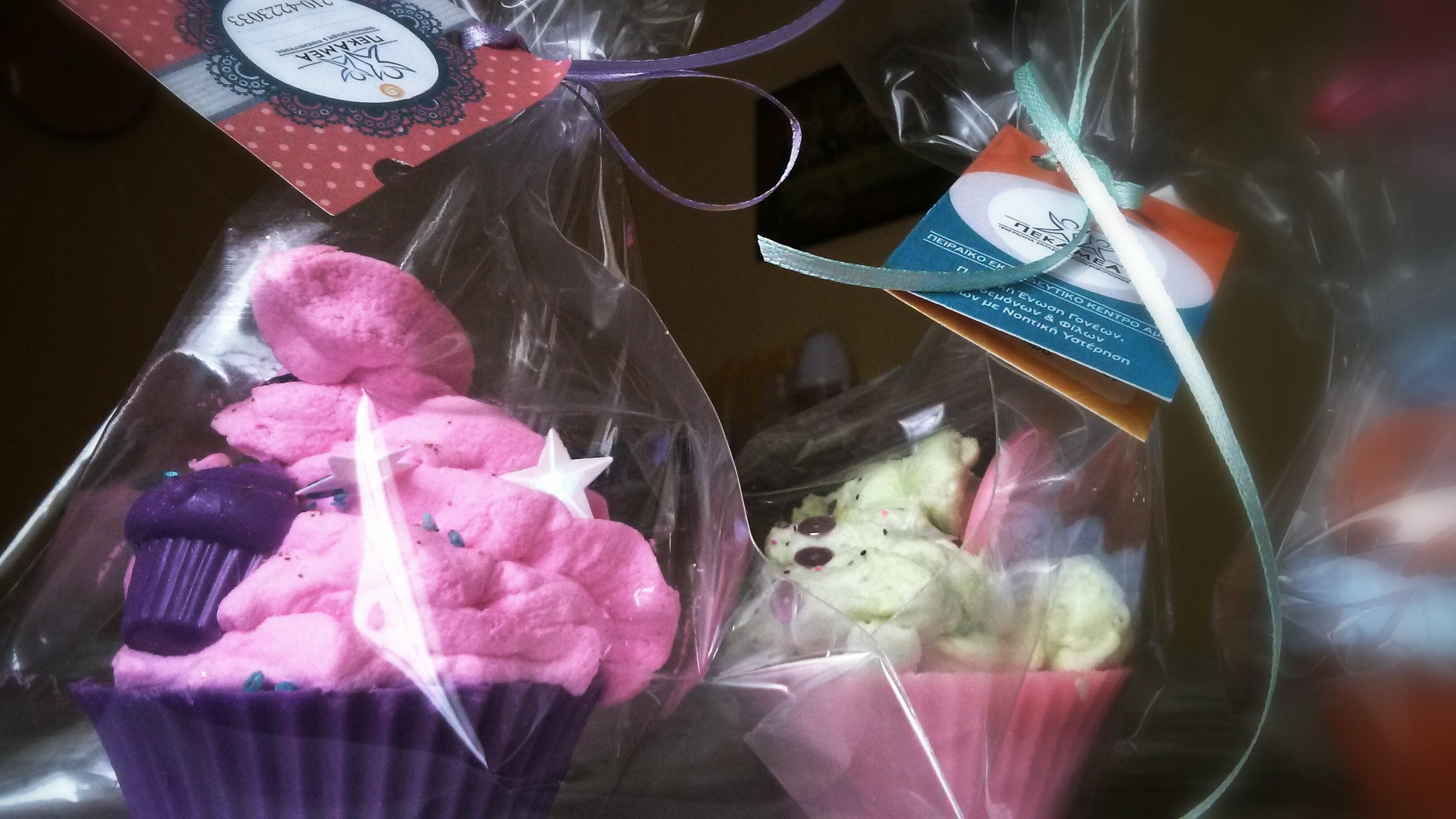 Τα διάσημα πια soap cupcakes μας!